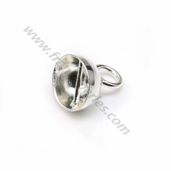 Rhodium 925 sterling silver clover charm 13mm x 1pc
