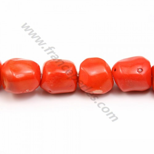 Red colored tulips sea bamboo 4*8mm