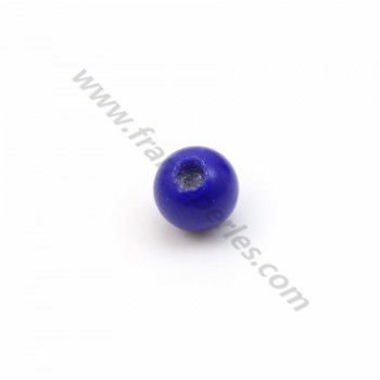 Lapis-Lazuli, half drilled, round 3mm x 40pcs