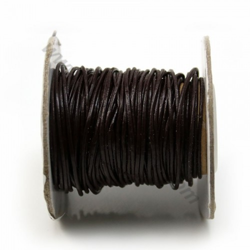 Leather brown cord 1.2mm x 1m