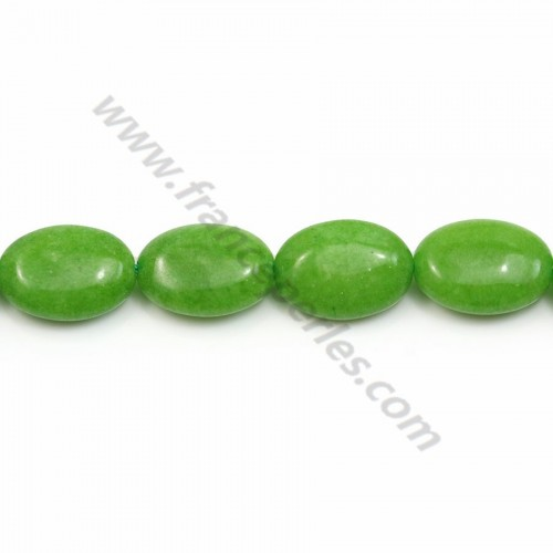 Tinted Oval Jade vert claire 10*14mm X 40cm