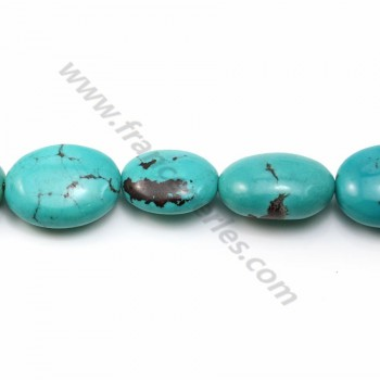 Turquoise oval  14-19*18-24mm X 40cm