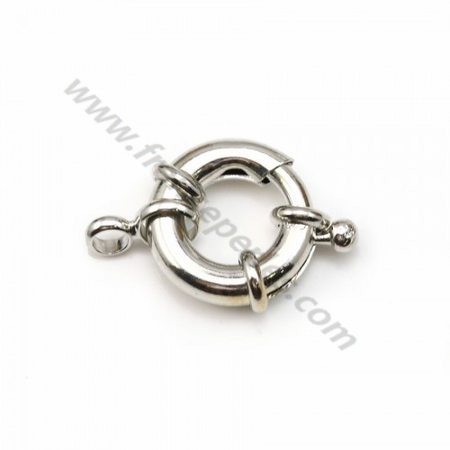 Clasp in buoy shape, aged silver color, 17.5mm  x 1 pc