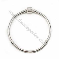925 sterling silver bracelet, serpentine mesh, 3mm thread thickness x 1pc