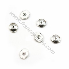 Pushers in 925 silver, with Alpa system, measuring 8mm x 2pcs