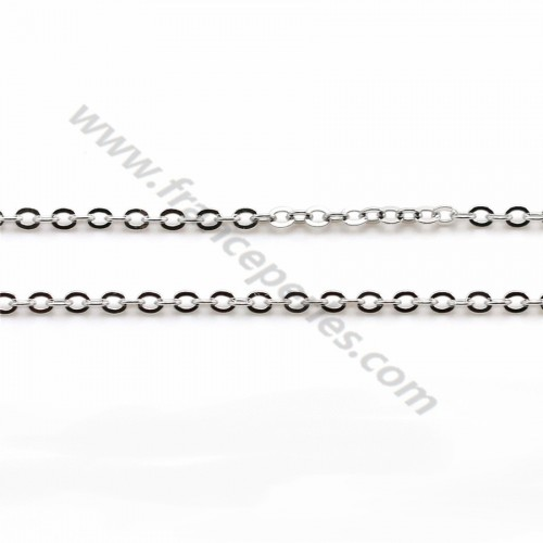 Chain in convict knit, in 925 sterling silver x 40cm