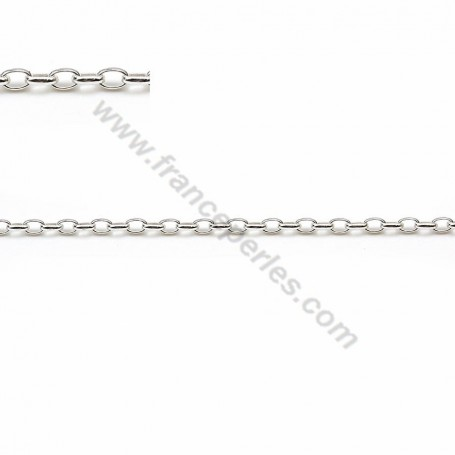 925 sterling silver oval chain 1.7x2.6mm x 50cm