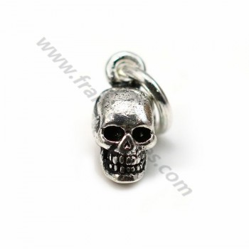 Charm in shape of skull, in 925 silver, in size of 5 * 11mm x 1pc