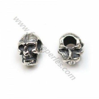 925 Sterling Silver skull pendant  5*7mm  X 1 pc