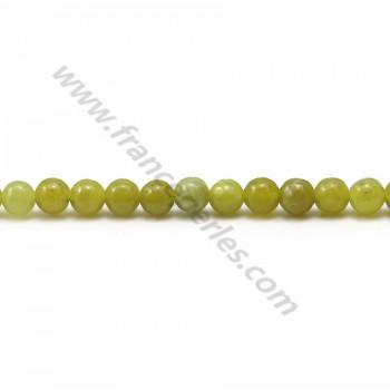 Jade lemon rond 4mm x 40cm