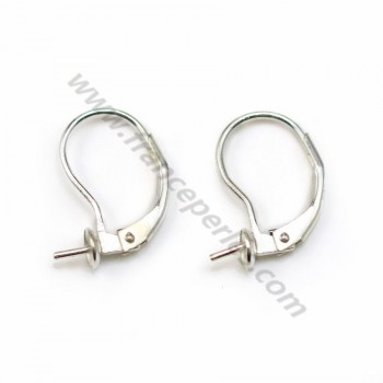 Dormeuse with a cup 5mm Silver 925 X 20 pcs