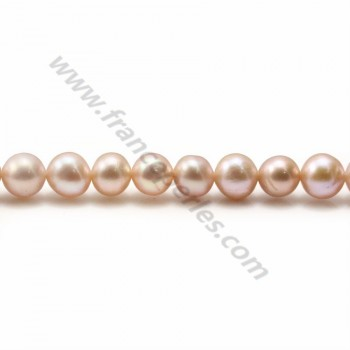 Purplish pink round freshwater pearls 8mm x 2pcs
