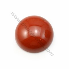 Red jasper cabochon, in round shape, 16mm x 2 pcs
