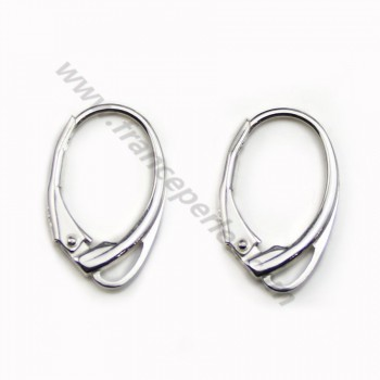 Leverbacks earrings, 925 Sterling Silver,11x17mm x 2pcs