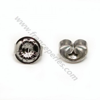 Ear clutches, 925 Sterling Silver  6.5mm X 4 pcs