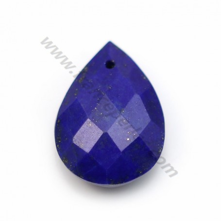 Lapis lazuli, in faceted drop shaped, 13 * 18mm x 1pc