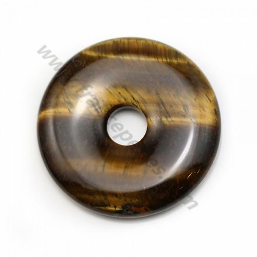 Oeil de tigre, en forme de donut, 40 * 8mm x 1pc