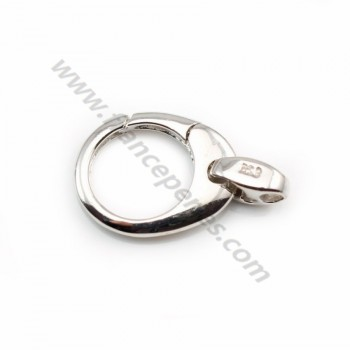 Key ring clasp,  925 Silver 19mm  X 1pc