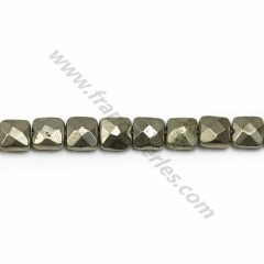 Pyrite, in the shape of flat faceted squared, 6mm x 39cm