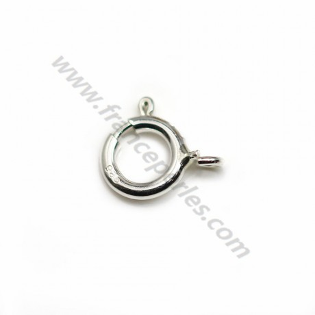 Silver sterling 925 Spring Clasp 7mmX 1 pc