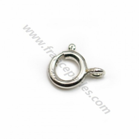 Silver 925 Spring Clasp 8mm X 1 pc