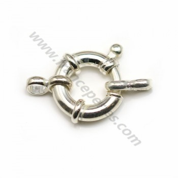 Spring ring Clasp, 925 Silver 14mm  X1pc