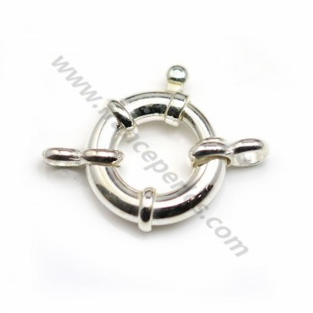 925 sterling  silver spring ring clasp 12mm  X 1 pc