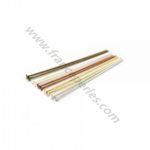 Head pin silver tone x 30mm x 20pcs