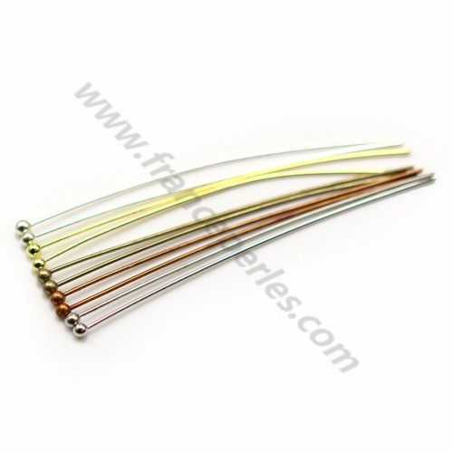Nail on metal, in round ball head shaped, 0.6 * 60mm x 200pcs