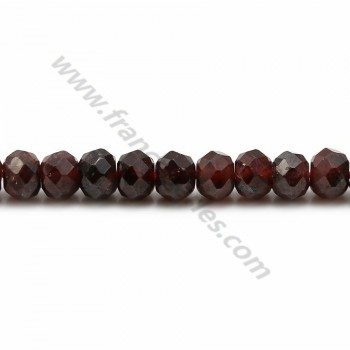 Garnet rondelle faceted 3x5mm x 40cm