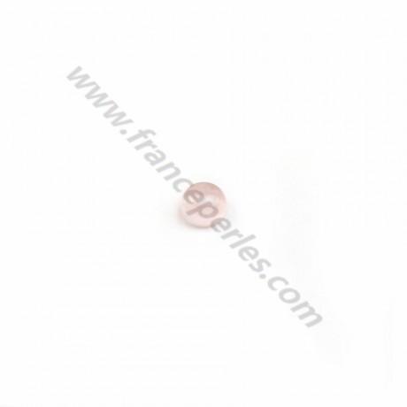 Cabochon Rose Quartz Flat-round 4mm x 10pcs