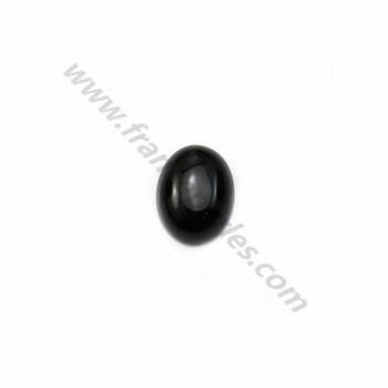 Cabochon onyx oval 7x9mm x 4pcs