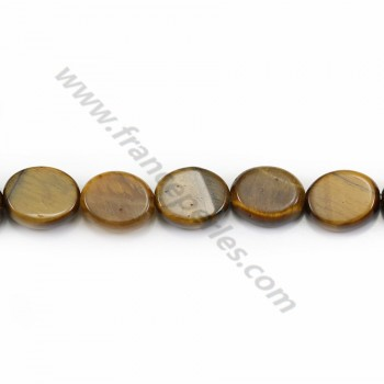 Yellow tiger eye oval 8*10mm x 40cm