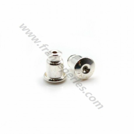 Ear clutches , 925 Sterling Silver, 5x6.5mm x 2 pcs