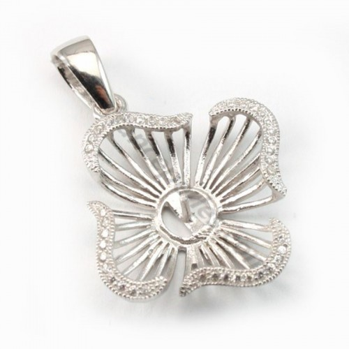 Silver  925 pendentif with zircon 20mm X 1pcs