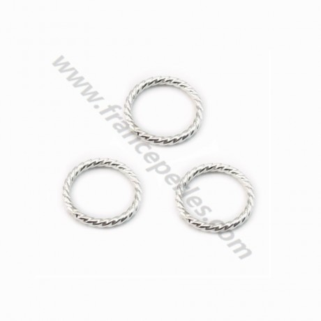 Silver 925  Round Rings 8mm X 4pcs