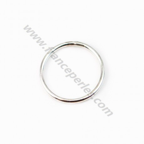 925 Silver, Closed Round Rings 14x1mm, X 2pcs