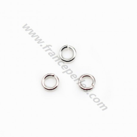 925 Silver, Open Round Rings, 3x0.6mm, X 20 pcs