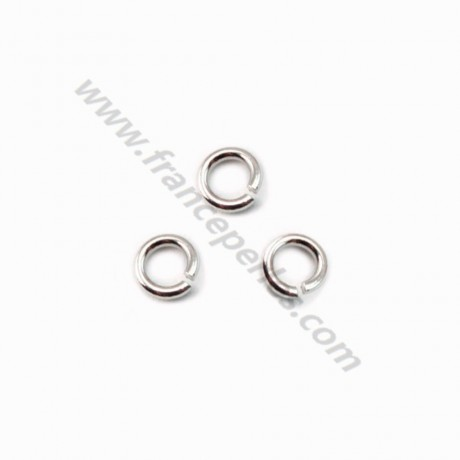 Silver 925 rhodium Open Round Rings 4mm X 20 pcs