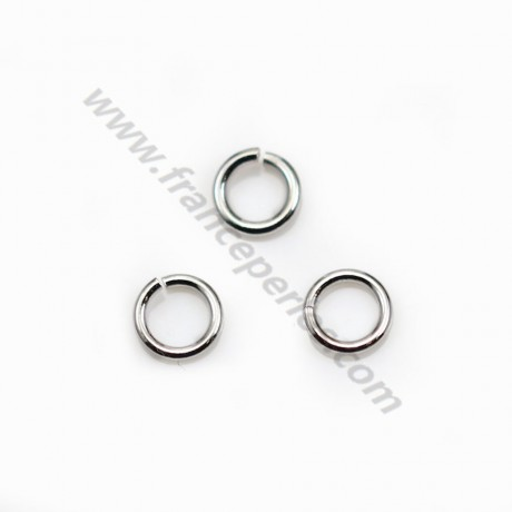 Silver 925 rhodium Open Round Rings 5mm X 10 pcs
