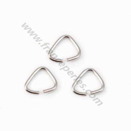 925 Silver rhodium, Open Triangle-shape, 4*4x0.6mm, x 20pcs