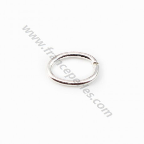 925 Sterling Silver, Oval-shape Rings, 5*7mm x 4pcs