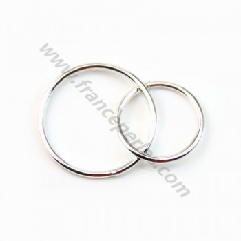 925 Silver Rings , Round, Closed, 11mm et 15mm x 1pc