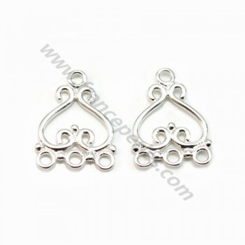 3 strands sterling silver 925  19.5mm x 1pc
