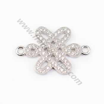 Spacer silver 925 and strass Chinese knot 15x22mm x 1pc