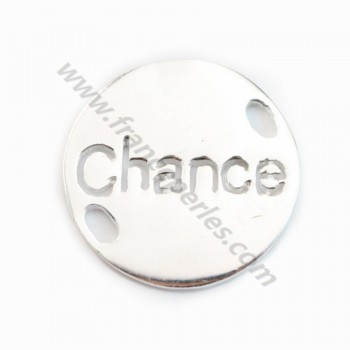 925 Sterling Silver  Chance charm 15mm X 1 pc