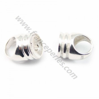 Silver 925 embout rond for cordon 5*6mm X 20 pcs