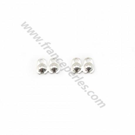 925 Sterling Silver crimp covers 2mm X 10 pcs