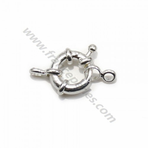 Clasp in buoy shape, also called spring clasp, on silver color, 11mm  x 1pc