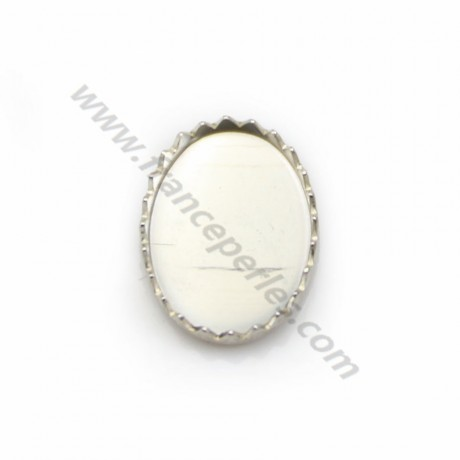 Set in 925 silver, for oval cabochon, 10 * 14mm x 1pc
